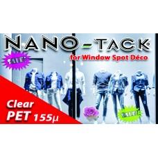 Nano-Tack Technology Transparent PET 155 microni